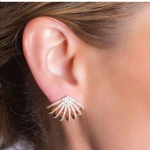 Melinda Leigh Ear Huggie Earrings Small Hoops Gold